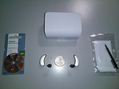 2xUnitron Moxi Fit 600 RIC Hearing Aids -Newest Model- Tinnitus Therapy