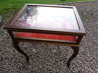 A French Style Bijouterie Display Cabinet Table With Cabriole Legs