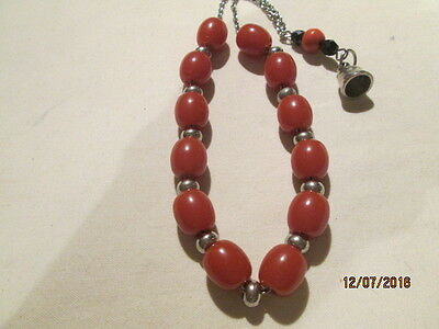 Vintage Bakelight Worry beads with small charm