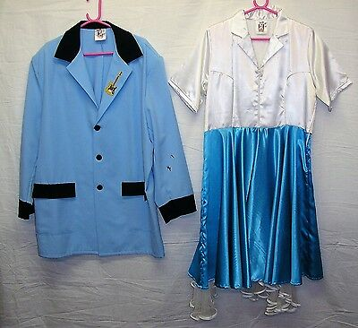 Job Lot of 2 His n Hers 1950s Costumes for Stage/Theatre/Fancy Dress etc -