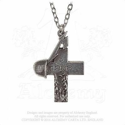 Alchemy Rocks - Metallica - Master Of Puppets 1986 Cross Pewter Pendant Metal