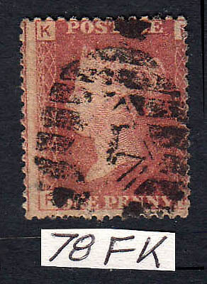 SG43/44 Plate 78 1d Used Stamp (271)
