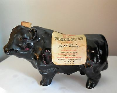 Willsher's Miniature Scotch Whisky Whiskey Black Bull Decanter Empty 1/10 Pint