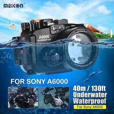 MEIKON 40M Underwater Waterproof Diving Housing Camera Case for SONY A6000 S8V7