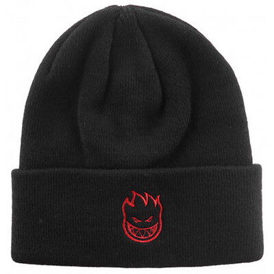"""New with Tags SPITFIRE Skateboard """"Bighead"""" Embroidered Cuff Beanie (Black)"""