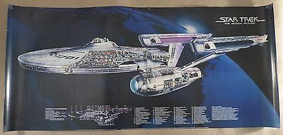 STAR TREK THE MOTION PICTURE 1979 Enterprise cutaway poster rolled