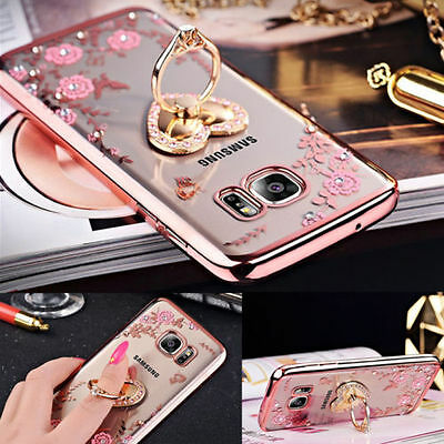 Glitter Electroplate Bling Soft TPU Silicone Flip Cover Case for Samsung S7 Edge