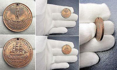 1905 Centenary of the Death of Nelson Commemorative Medal - Excellent Rare!