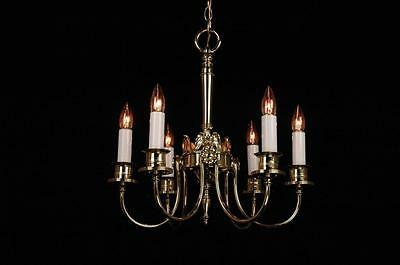 Antique Restored Circa 1920's American Eagle Colonial 6 Arm Chandelier