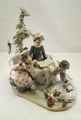 RARE LLADRO 5371 FAMILY ROOTS Retired Black Legacy Collection LARGE PIECE