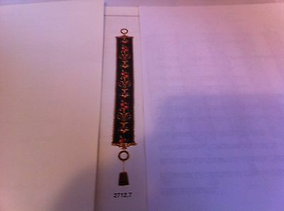 """Vintage Corona Tapestry Bell Pull w/Antique Gold Tassel apx. 47"""""""