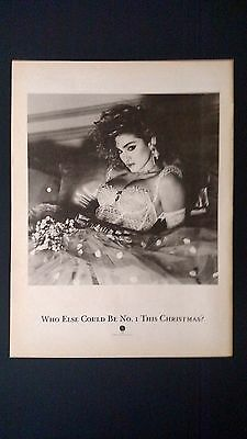 Who Else Could This Be #1 This Christmas '84 Rare Original Print Promo Poster Ad