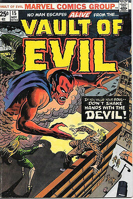 Vault of Evil Comic Book #15, Marvel Comics 1974 VERY GOOD+