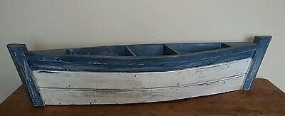 Decorative Garden Feature Wooden Boat for Herb or Flower Planter Bed