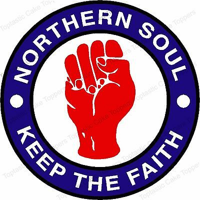 Northern Soul Music Genre Edible Icing Birthday Party Cake Topper