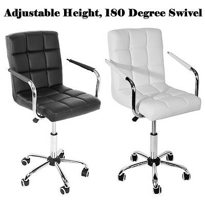 Modern Luxury Executive PU Leather Dining Office Chair Seat leather barstool