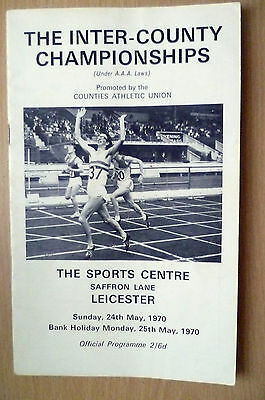 1970 THE INTER COUNTY ATHLETIC CHAMPIONSHIPS @ Leicester, 25th May