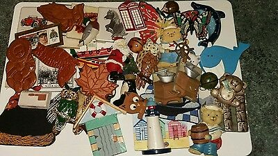 A Job Lot Of 45 Various Types Of Fridge Magnets In Good Condition.