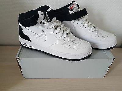 NIKE AIR FORCE 1 MID'07 WHITE / WHITE-BLACK 10 US 44 eu