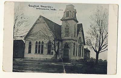 Vintage Postcard (1910) - Baptist Church, Lebanon, Ind - Posted 1793
