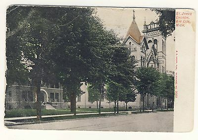 Vintage Postcard (1908) - St James Church, Bay City, Mich. - Posted 1797