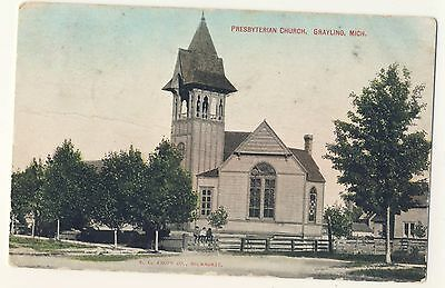 Vintage Postcard (1909) - Presbyterian Church, Grayling, Mich - Posted 1796