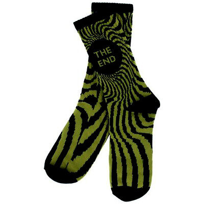 "New with Tags SPITFIRE Skateboard Wheels ""Swirl"" Crew Socks (Black / Gold)"