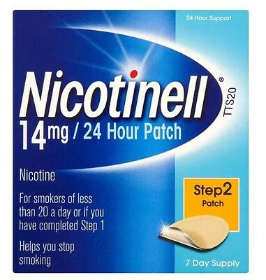 Nicotinell 14mg/24 Hour Patch Step 2 Patch Help Stop Your Craving Exp 08/18