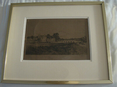 A Fred Whitehead Signed Etching, The Frome Valley, Woolbridge.