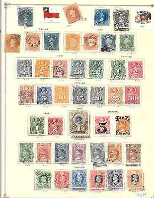 Chile - 240 assorted Pre 40's stamps on pgs
