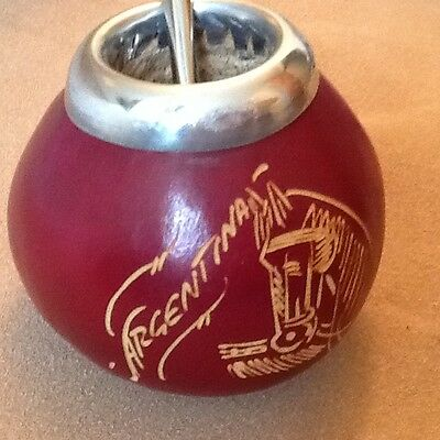 Mate Argentino Gourd - Calabaza with Straw - Free shipping