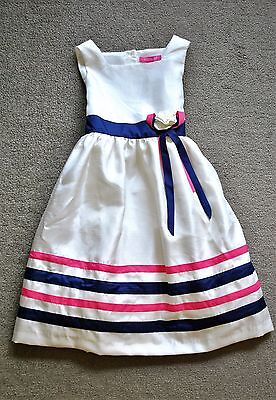 Lilly Wicket Girls' Ivory Shantung Flower Girl/Holiday/Party Dress - Size 5