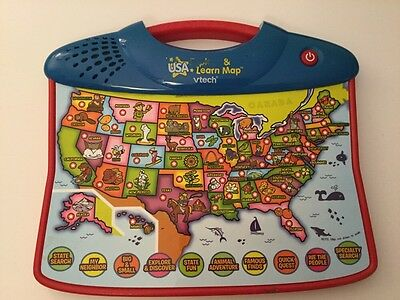 Vtech Usa & Learn Map, Interactive, Educational, School-Age, 10 Play Modes