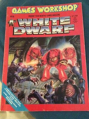 Games Workshop White Dwarf 113 May 1989 Space Hulk Excellent Condition