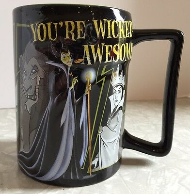 "Disney Coffee Mug ""You're Wicked Awesome"" Disney Villains 3D Designs"