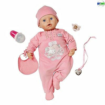 Baby Annabell Doll Lifelike Interactive Cries Tears Bottle Pacifier Drinks Pink