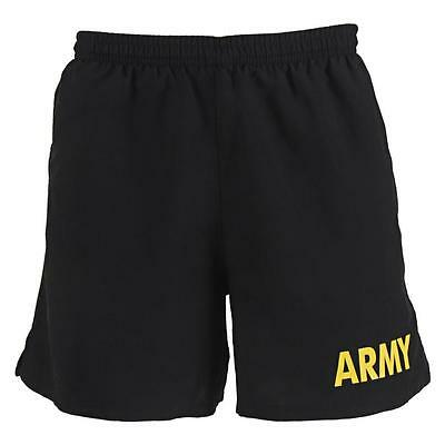 Army Pt Shorts Trunks Apfu Fitness Physical Black Yellow Usa Made