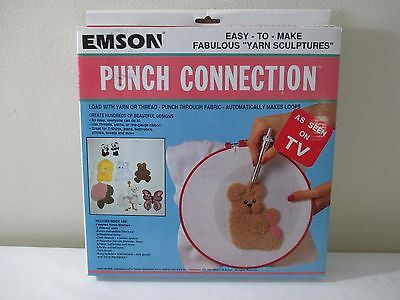 New Vintage Emson Needle Punch Connection Yarn Sculpture Craft Embroidery Kit