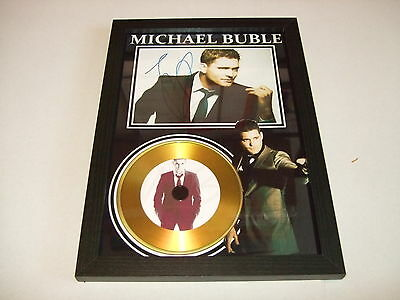 Michael Buble  Signed Framed Gold Cd  Disc   53321