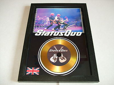 Status Quo  Signed Framed Gold Cd  Disc   443233