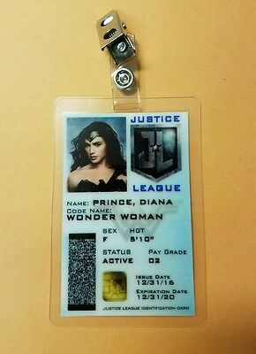 Wonder Woman ID Badge - Diana Prince Justice League Cosplay prop costume