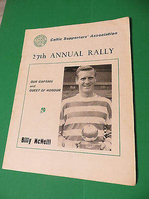 Celtic FC Supporters Association 27th 1972 Annual Rally Programme