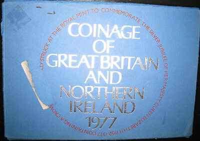 Great Britain & Northern Ireland Proof set 1977 with 7 coins