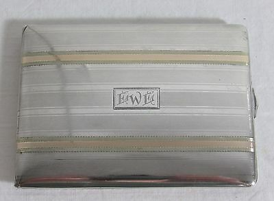 1920's Sterling And 14 K Gold Card Or Cigarette Case