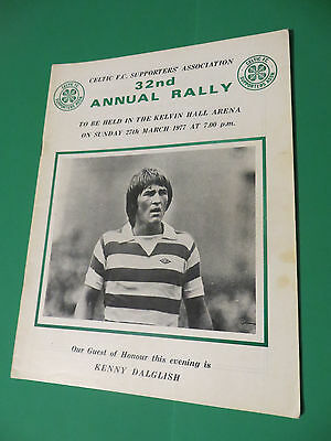 Celtic FC Supporters Association 32nd 1977 Annual Rally Programme