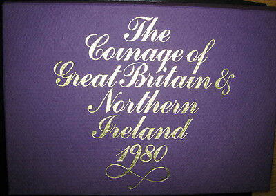 Great Britain & Northern Ireland Proof set 1980 with 6 coins