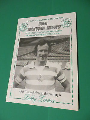 Celtic FC Supporters Association 35th 1980 Annual Rally Programme