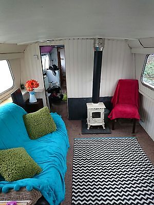 Widebeam liveaboard cruising houseboat ideal project for London canals