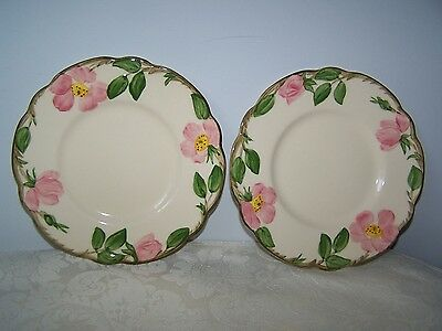 2 Franciscan Desert Rose Bread And Butter Plates Made In California Usa