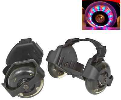 Rolls For Shoes Size Adjustable Up To 176Lbs Loading Capacity Black With Lights